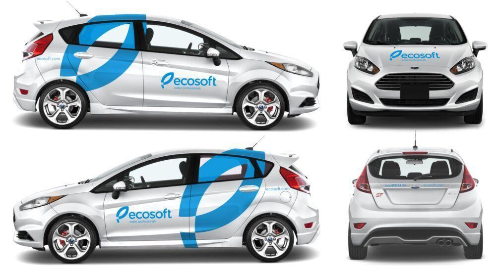 Оклейка авто виниловой пленкой для ТМ ECOSOFT