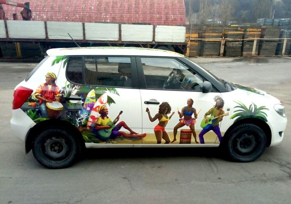 Оклейка авто виниловой пленкой для ТМ Silpo