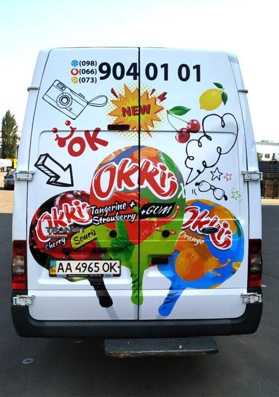 Оклейка авто виниловой пленкой для ТМ OKKI